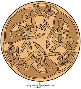 Celtic Ornament Design from Book of Kells vector