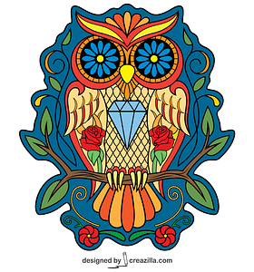 Day of the Dead Owl vector