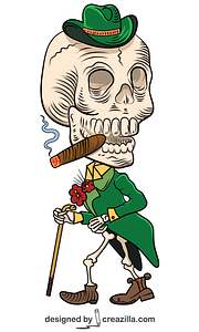 Day of the Dead Skeleton vector