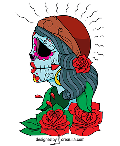 Day of the Dead Gypsy by Asatorarise vector