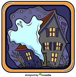 Haunted House and Ghost vector