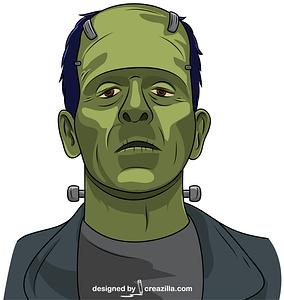 Scary Frankenstein Head vector