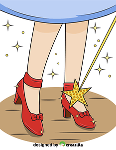 Ruby Slippers from The Wizard of Oz vector