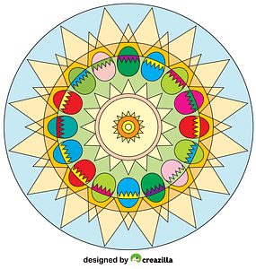 Easter Egg Mandala vector