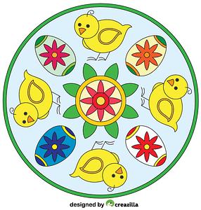 Easter Mandala 01 vector