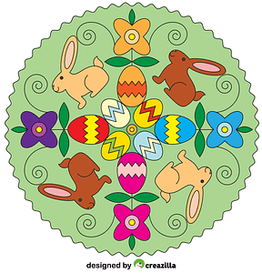 Easter Mandala vector