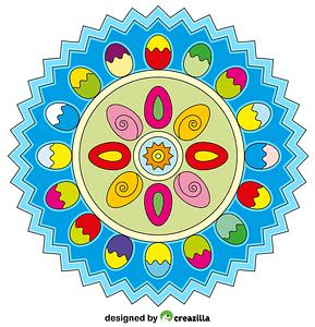 Easter Mandala 03 vector