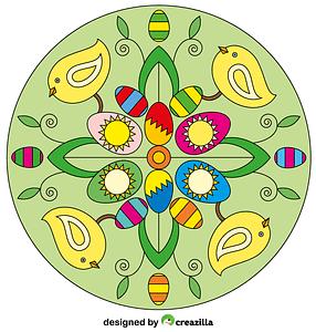 Easter Mandala 04 vector