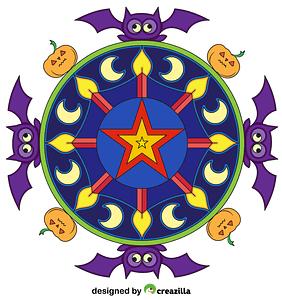 Halloween Mandala vector