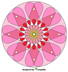 Heart Mandala vector