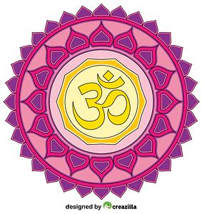 Om Mandala vector