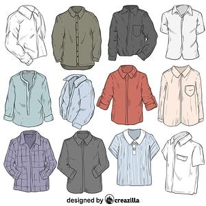 Set of shirt vektor