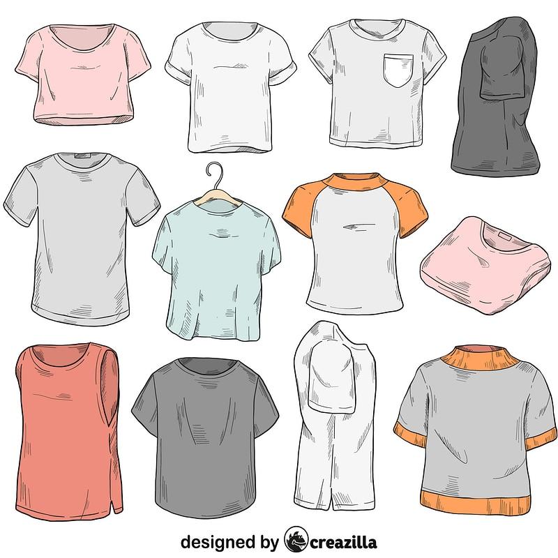 Set of t-shirt vektor