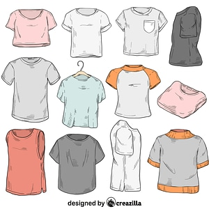 Set of t-shirt vector