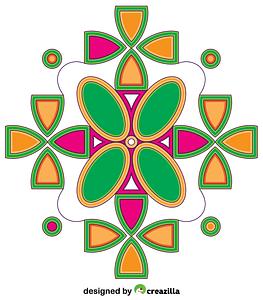 Simmetrical Mandala vector