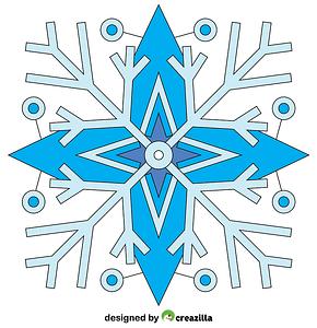 Snowflakes Mandala vector