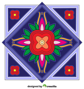 Square Mandala vector