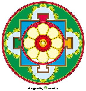 Tibetan Mandala vector