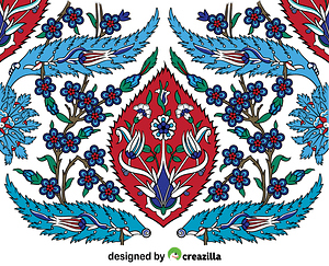 Turkish Tiles vector