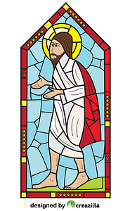 Religious Stained Glass vector