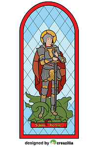 Saint George Stained Glass vector