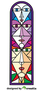 Stained Glass by Jean Cocteau vector