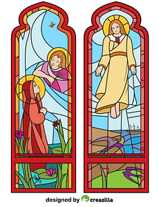 The Ascension Stained Glass vector