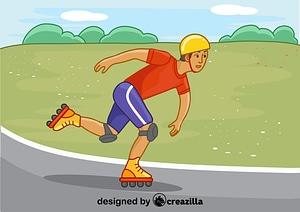 Rollerskating vector