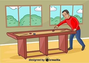 Shuffleboard vector