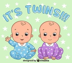 Twins boys vector