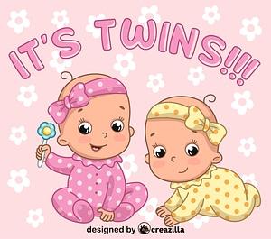 Twins girls vector