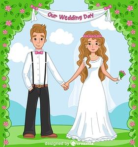 Rustic wedding vector