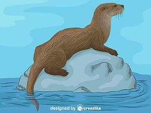 River Otter vector