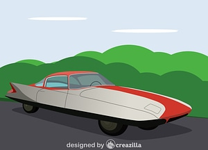 1955 Chrysler (Ghia) Streamline X Gilda vector
