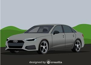 Audi A4 vector
