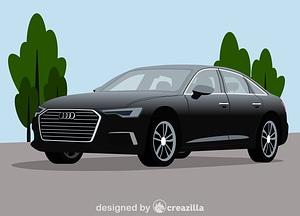 Audi A6 vector