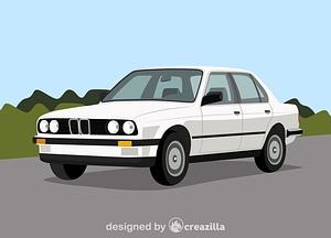 BMW e30 vector