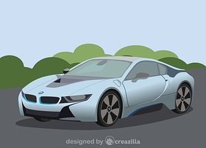 BMW i8 vector