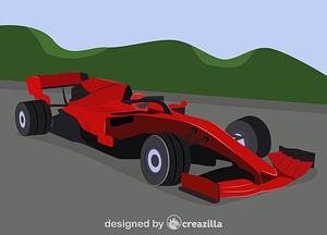 Ferrari f1 vector