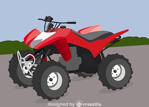 Honda Atv vector
