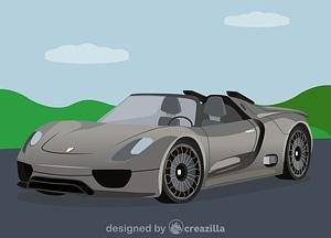Porsche 918 Spyder Concept Car vector