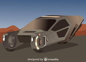 Spinners. Blade Runner vector
