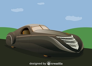 The Duesenberg Coupe Simone Midnight Ghost vector