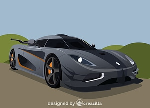 The Koenigsegg One:1 vector