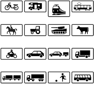 165 Road Signs of Germany vector