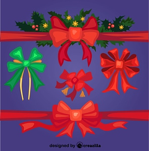 Christmas ribbon vector