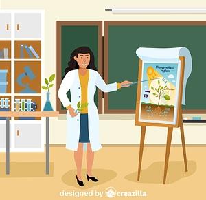 Biology teacher vector