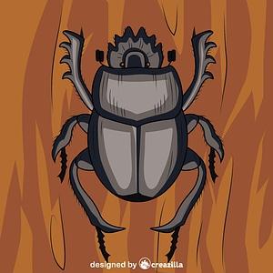 Scarabaeus Dung Beetle vector
