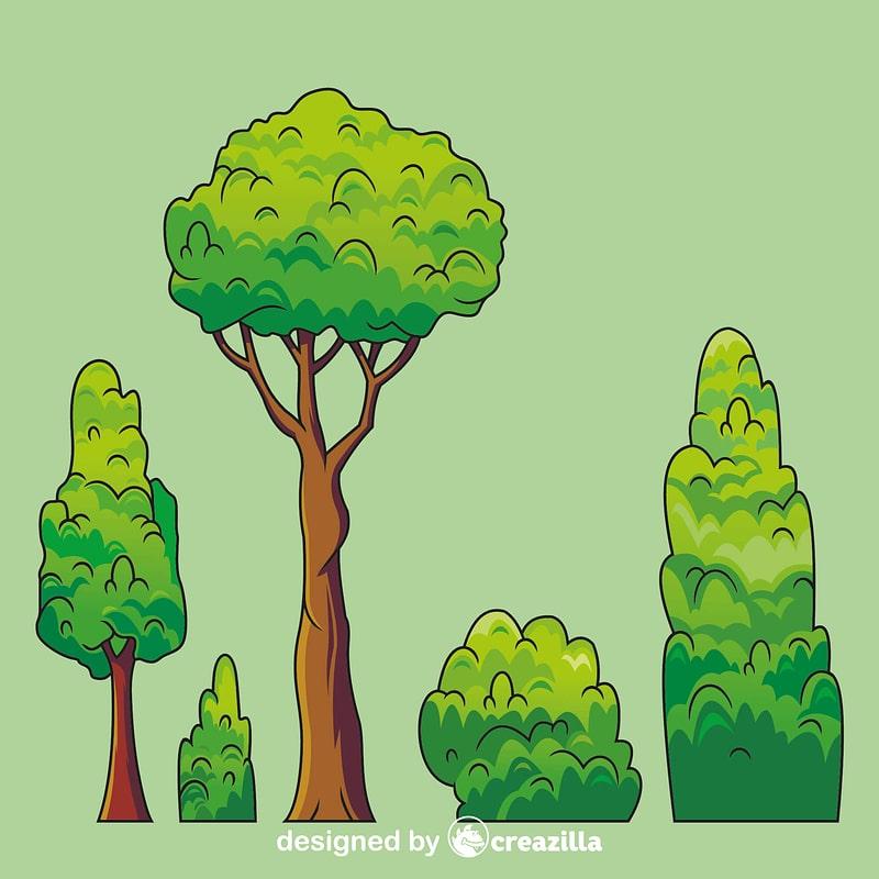 Evergreen tree vector