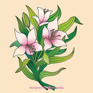 Lilies vector